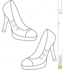 lady u0027s shoes coloring page stock illustration image 52086587