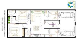 Square Bathroom Floor Plans 2 Bhk Floor Plan For 24 X 57 Feet Plot 1368 Square Feet