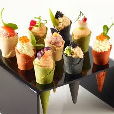canapes fruit cones four colours 7 5cm x 96 508