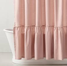 light pink ruffle curtains light pink shower curtain ideas in pale design 12 sakuraclinic co