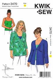 4x Plus Size Clothing Kwik Sew Sewing Pattern 3470 Women U0027s Plus Size 1x 4x Approx 22w