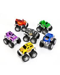 buy 6 pull toy monster trucks costume accessory cheap
