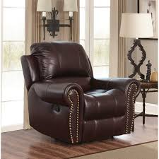 Recliner Chair Abbyson Hogan Italian Leather Reclining Chair With Nailheads