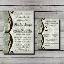 rustic blossom wedding invitation country style wedding
