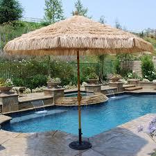8 Foot Patio Umbrella by Galtech Sunbrella 9 Ft Aluminum Bamboo Patio Umbrella Hayneedle