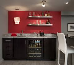 new york basement wet bar home traditional with dark wood build