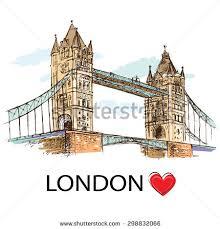 london tower bridge vector drawing stock vector 327908195