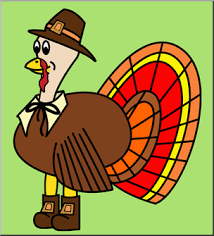 clip thanksgiving turkey color i abcteach abcteach