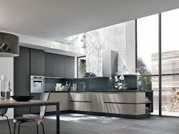 cuisine moderne taupe cuisine moderne sans poignées en l taupe et gris anthracite par