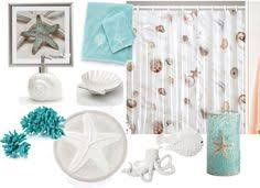 Seashell Bath Rug Nautical Seashell Decor Complete Bathroom Rug And Shower Curtain