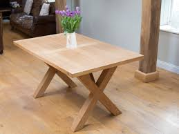 cross leg coffee table provence cross leg oak table 1 5m 6 seater table