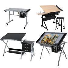glass drafting table desk drawing art artist studio chair craft