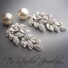 wedding earrings chandelier 63 earrings for weddings wedding pearl bridal chandelier earrings