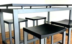 tall kitchen table and chairs tall dining room tables sets reclaimed black dining table