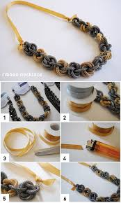 ribbon necklace making images Diy ribbon necklace pictures photos and images for facebook jpg