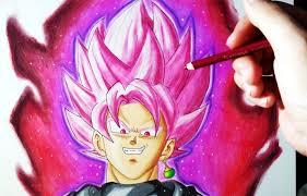 imagenes de goku para dibujar faciles con color cómo dibujar a goku black ssj rose con lápices de colores tutorial