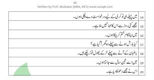 present perfect tense urdu