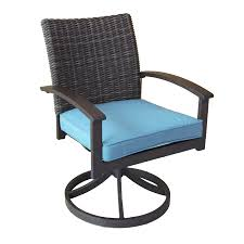 Wicker Outdoor Rocking Chairs Allen Roth Atworth 2 Count Brown Wicker Patio Dining Chairs With