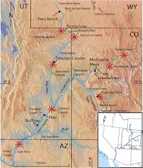 Map Of Colorado Rivers by New Incision Rates Along The Colorado River System Based On