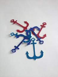 Items Similar To Nautical Anchor - anchor nautical party decoration anchor fabric by daintyapples