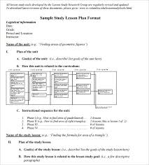 5 math lesson plan template free sample example format free