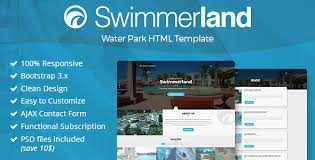 swimmerland water park html template by gnodesign themeforest