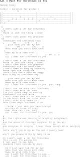 christmas carol song lyrics with chords for all i want for