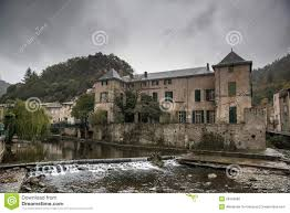 small medieval castle in lunas france stock photo image 28783980