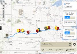 trip map rv travel trip planning tools and information from sam