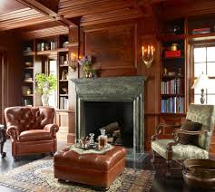 paneled fireplace home office traditional with bookmatch gold wall