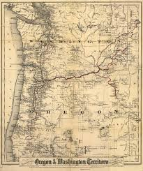 map of oregon state historical map of oregon state and washington territory 1880