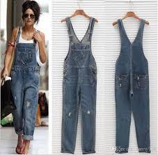 trendy jumpsuits 2018 2017 trendy fashion blue overalls water denim straps