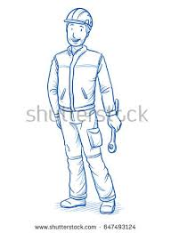 royalty free vector sketch service man 227599873 stock photo