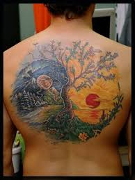 yin yang amazing style tree of on back golfian com
