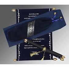 Scroll Wedding Cards Design With Price Scroll Invitations Scroll Wedding Cards 123weddingcards