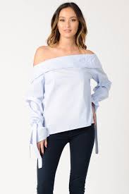 light blue off the shoulder top tops lucca couture