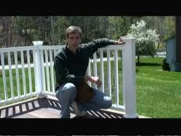 How To Build A Handrail On A Deck How To Install Composite Deck Railing Youtube