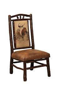 Hickory Dining Room Chairs by Amish Rustic Hickory Chair