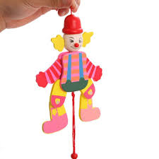 string puppet wooden pull string puppet clown toys marionette classic