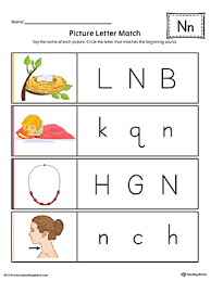 alphabet letter hunt letter n worksheet color