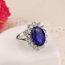 s day rings blue ring women engagement jewelry princess promise rings