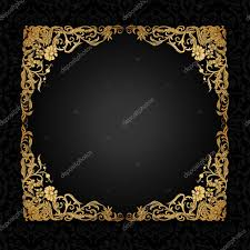 vintage background with antique luxury black and gold ornament