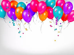 Horizontal Line Border Of Shiny Colorful Balloons Party Banner
