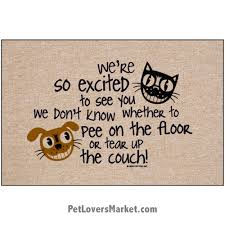 funny doormats dog placemats we u0027re so excited to see you