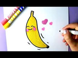 cute food how to draw a cute banana easy drawing youtube