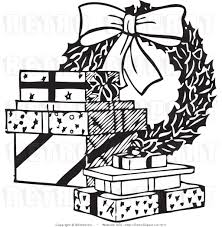 christmas clipart black and white free clip art images