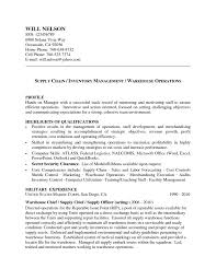 Sample Resume For Supply Chain Management by Unit Clerk Resume Free Resume Example And Writing Download
