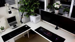 ikea computer desk hack best desk ikea desk hack ikea furniture gaming desk youtube