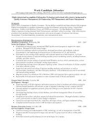 Sample Resume For Software Engineer Experienced by R And D Test Engineer Sample Resume 21 Qa Tester Resume Software