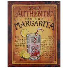 cocktail recipes poster margarita cocktail mix recipe vintage tin sign wall decoration